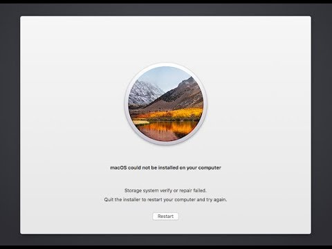 怒りのカトウ-Mac OS could not be installed on your computer-